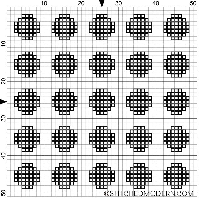 Free cross stitch pattern polka dot repeating pattern