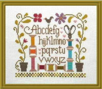 Garden of Thread (Jardin de Bobines) Cross Stitch Pattern