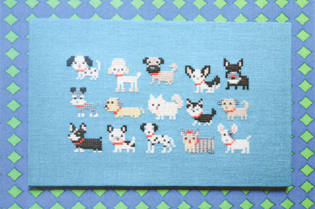 Dog Breeds cross stitch pattern by Japanese designer Gera!