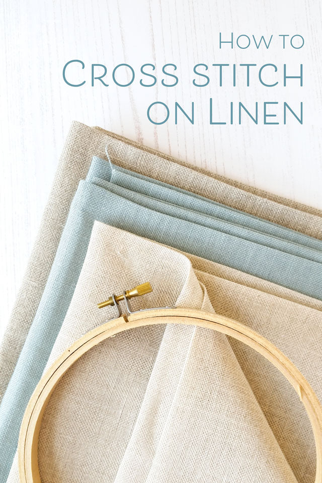 how to cross stitch on linen fabric