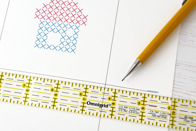 Free pattern and template for cross stitching on paper