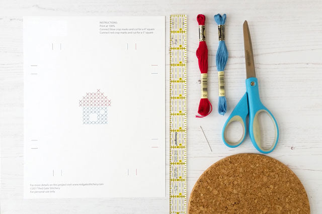 Materials needed to cross stitch on paper