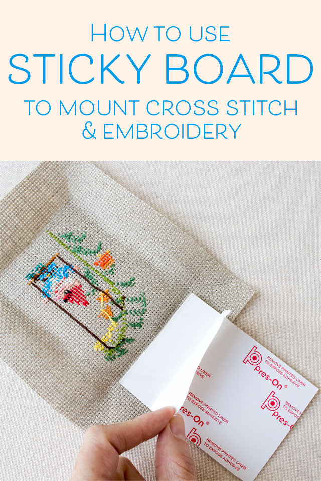 How to frame cross stitch and embroidery using sticky board ...