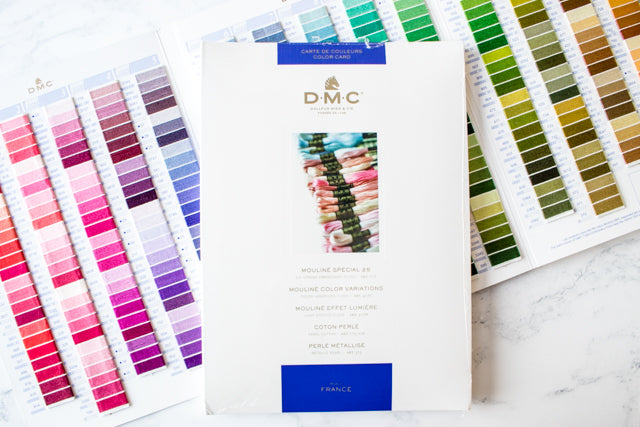 How to use a DMC embroidery thread color card