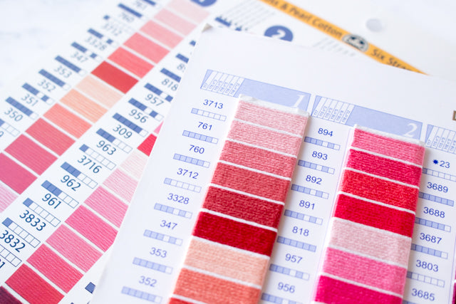 picture about Dmc Floss Color Chart Printable named How toward employ a DMC embroidery floss shade card Sched Impressive