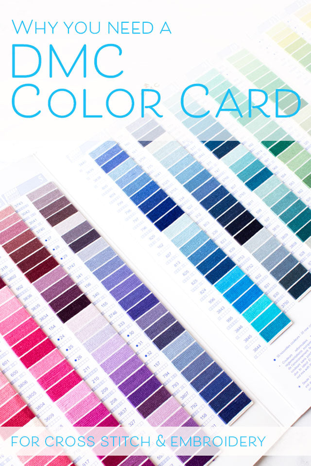 image relating to Dmc Floss Color Chart Printable named How in the direction of employ a DMC embroidery floss coloration card Sched Impressive