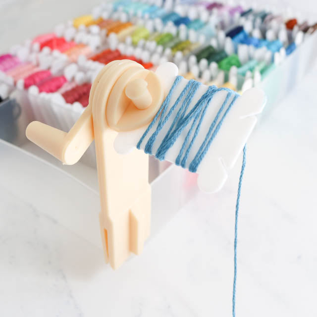 How to use an embroidery floss bobbin winder