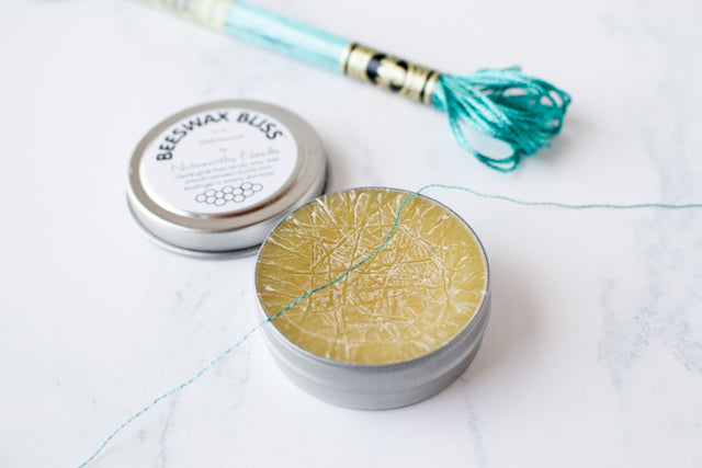 How to cross stitch with DMC metallic embroidery floss