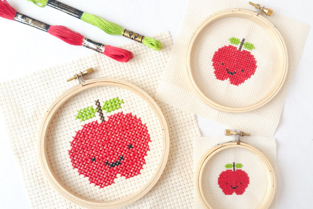 cross stitch apples free pattern
