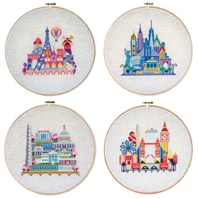 Pretty Little City series cross stitch by Satsuma Street