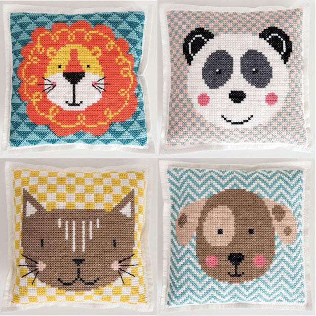 Adorable animals felt cross stitch kits by Rico Design