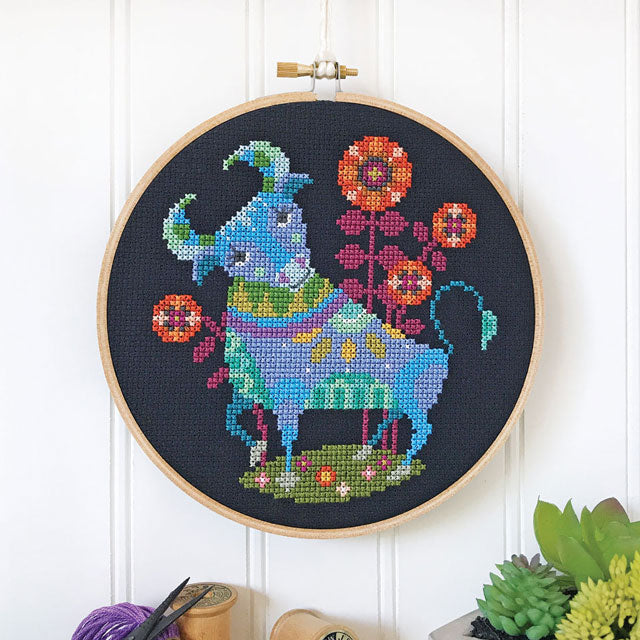 Cross stitch zodiac pattern by Satsuma Street - Taurus the Bull