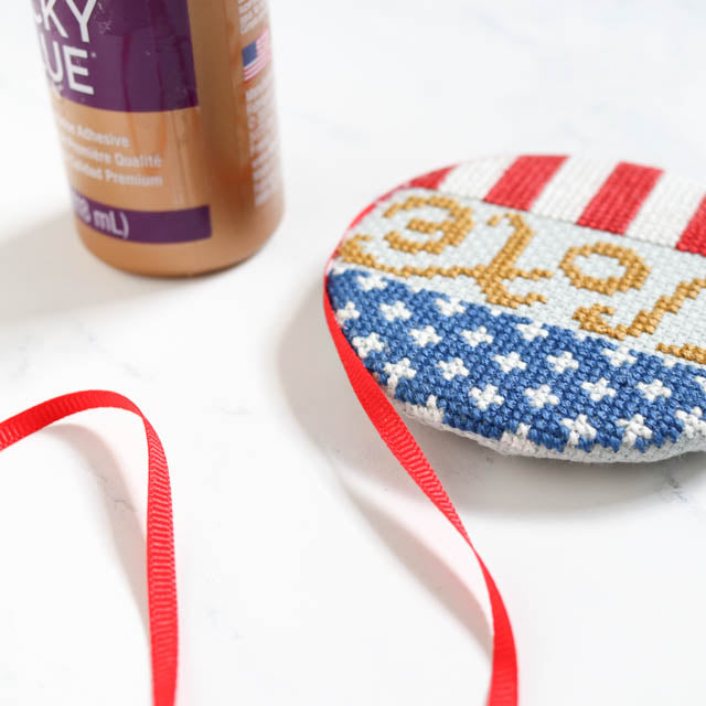 How to make a cross stitch Vote button