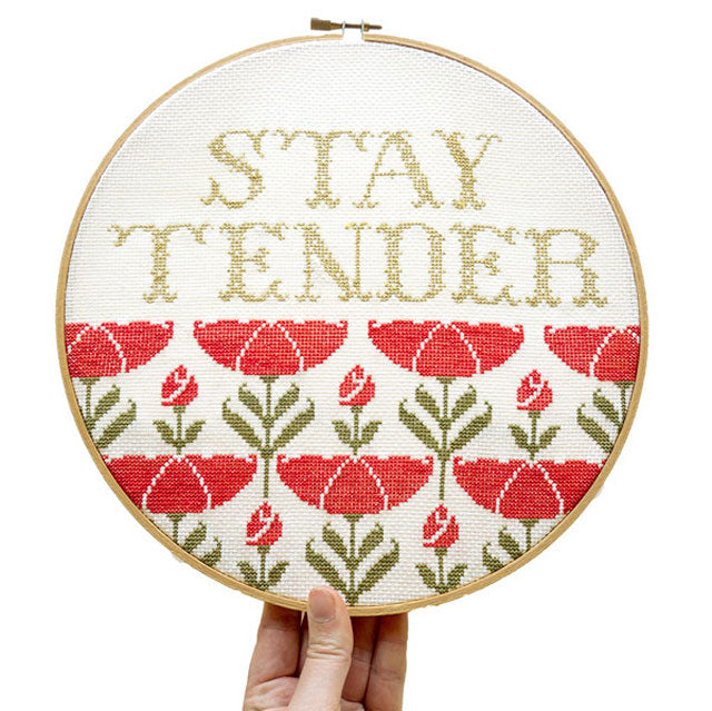 Stay Tender cross stitch design by Junebug and Darlin
