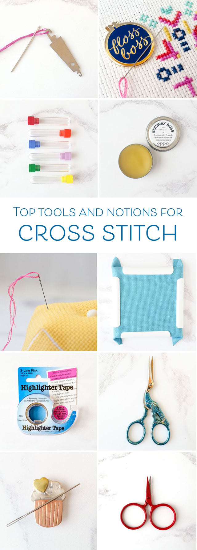 Top tools and notions for cross stitch and embroidery