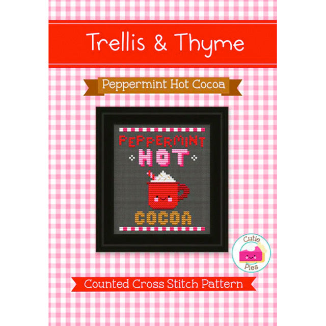 Peppermint Hot Cocoa cross stitch pattern by Trellis and Thyme