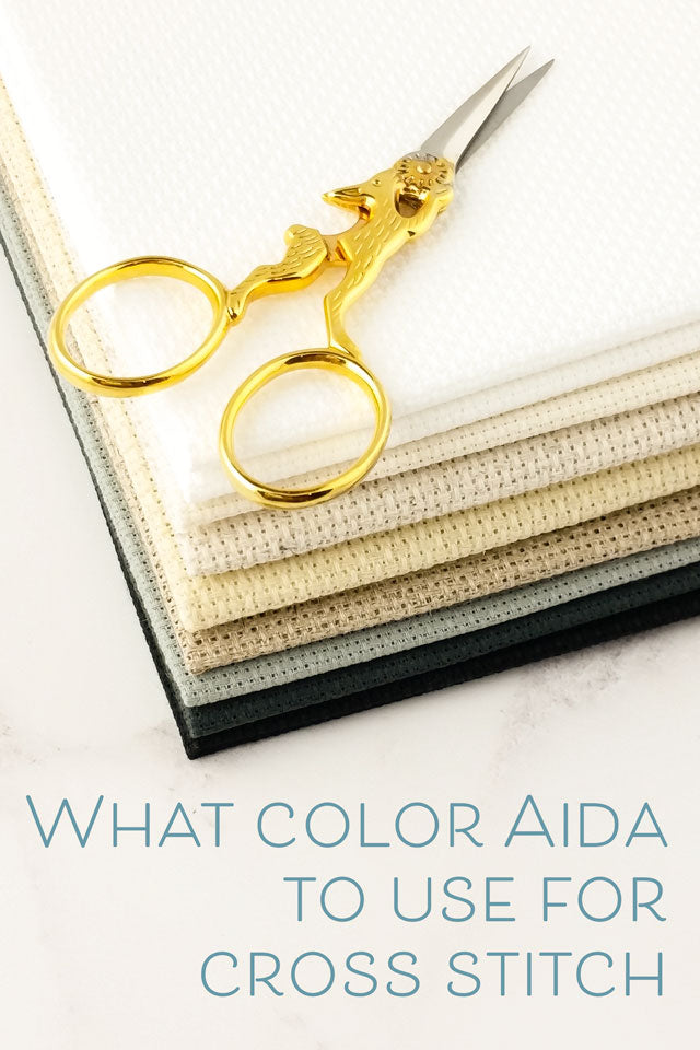 What color Aida fabric to use for cross stitch