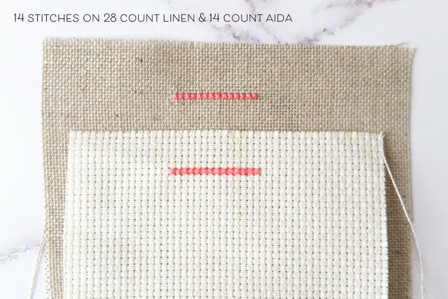 the difference between aida and linen cross stitch fabric