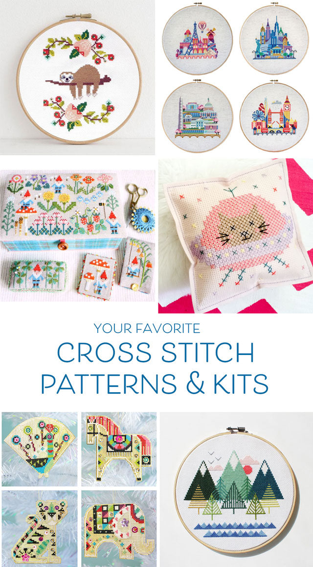 Your favorite cross stitch kits and patterns of the year