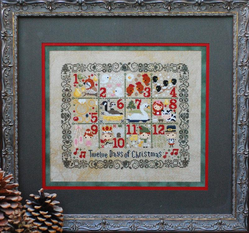 Twelve Days of Christmas Cross Stitch Pattern