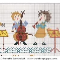 The Little Orchestra Cross Stitch Pattern