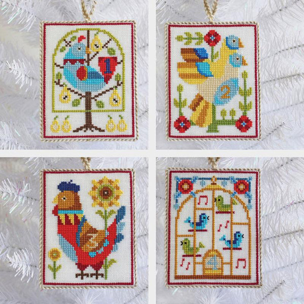 Twelve Days of Christmas Cross Stitch Ornaments Pattern