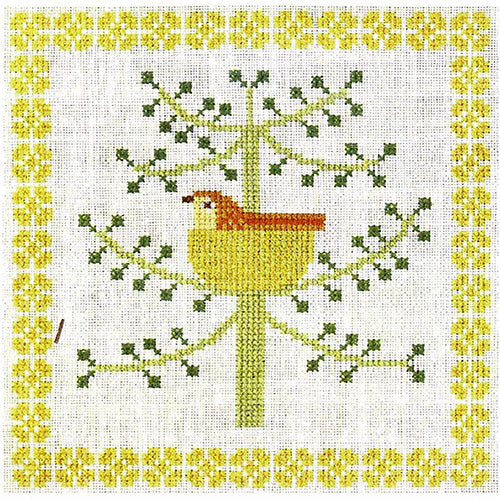 Vintage Birds Cross Stitch Kit - Calendar Series, June 1969