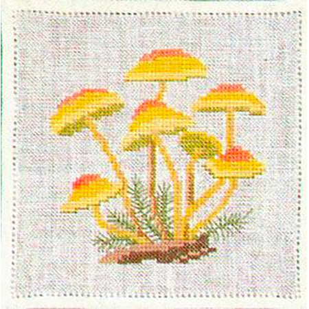 Vintage Mushroom Cross Stitch Kit - Clustered Woodlover
