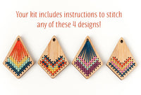 Cross Stitch Necklace Kit - Bamboo Kite