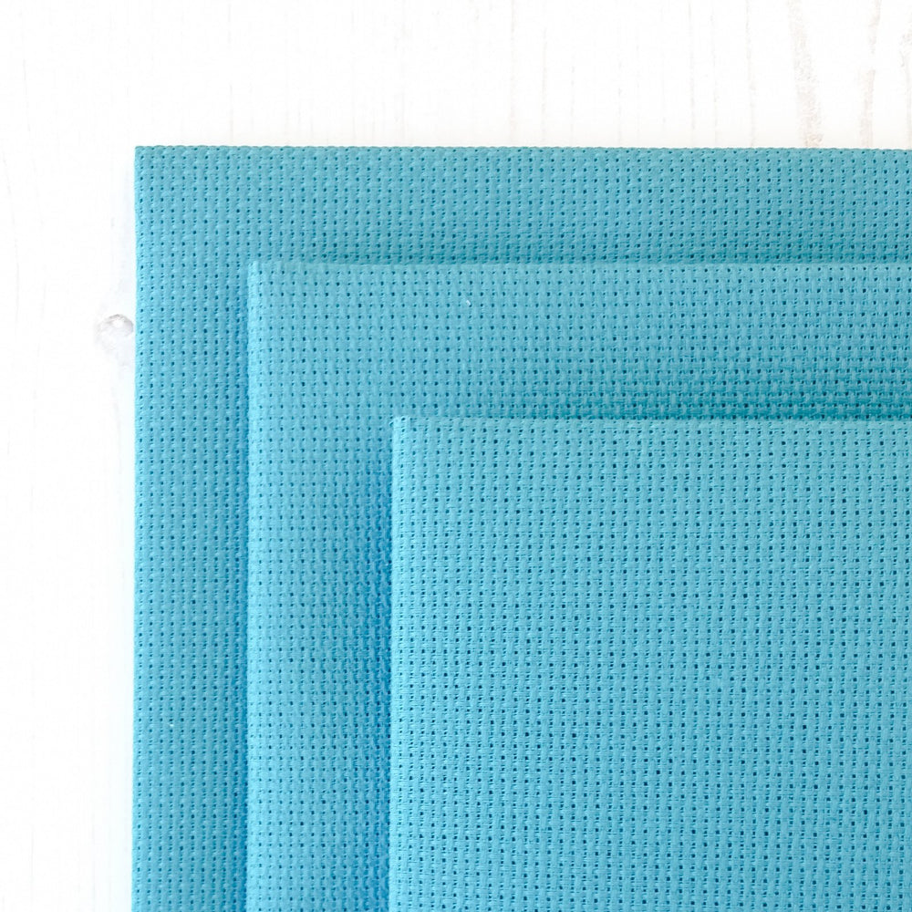 Aqua Aida Cross Stitch Fabric - 14 count