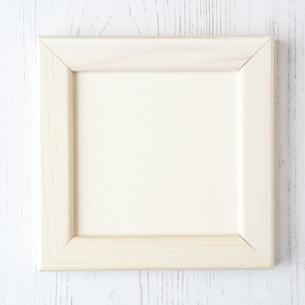 "Antique White Frame for Cross Stitch - 4"" x 4"""