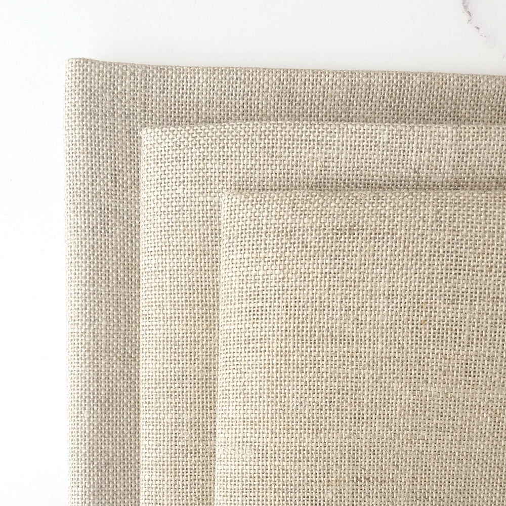 Cashel Raw Natural Linen Fabric - 28 count