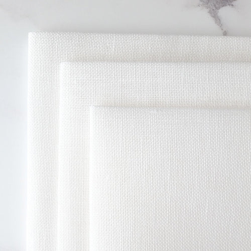 Cashel White Linen Fabric - 28 count