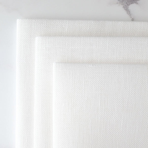 Belfast White Linen Fabric - 32 count