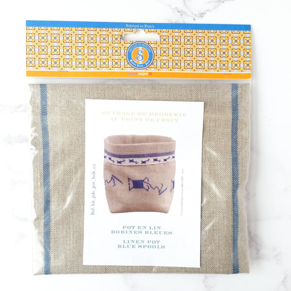 Cross Stitch Linen Bin Kit - Spool of Thread