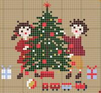 Happy Childhood Christmas Cross Stitch Pattern (20% OFF)