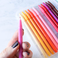 Journal and Planner Pen Set - 24 Rainbow Colors