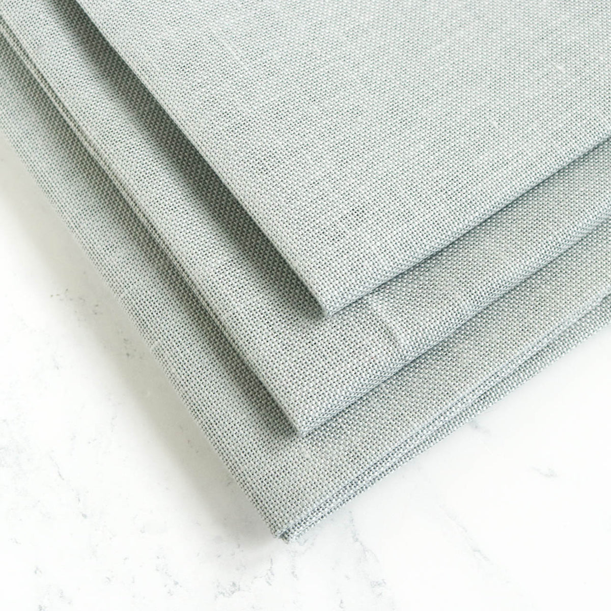 Mystic Gray Linen Fabric - 28 count