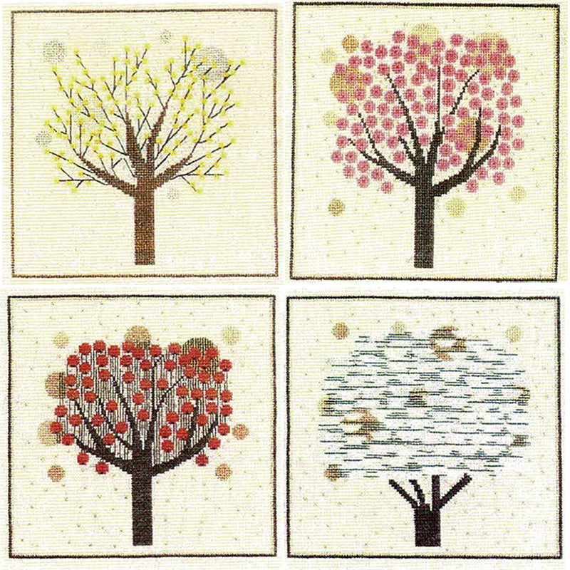 Vintage Danish Trees Cross Stitch Kit