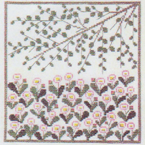 Vintage Wildflowers Cross Stitch Kit - Daisy