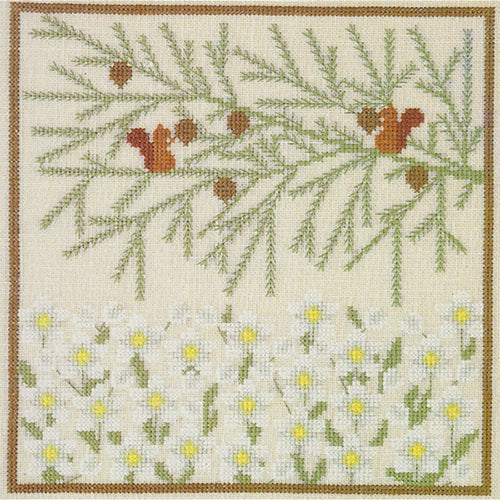 Vintage Wildflowers Cross Stitch Kit - Christmas Rose