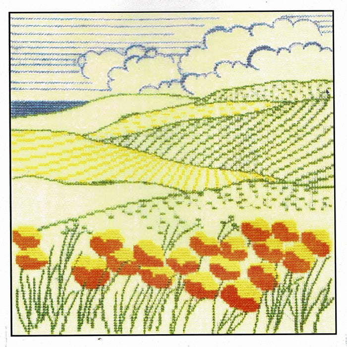 Danish Landscape Cross Stitch Kit - Rolling Fields
