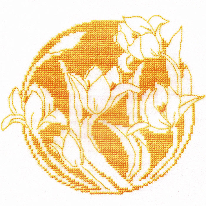 Danish Flowers Cross Stitch Kit - Tulips