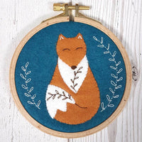 Felt Appliqué Hoop Kit - Folk Fox