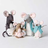 Hand Stitched Felt Softie Kit - Mouse Family