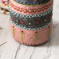 Hand Embroidered Felt Pincushion Kit