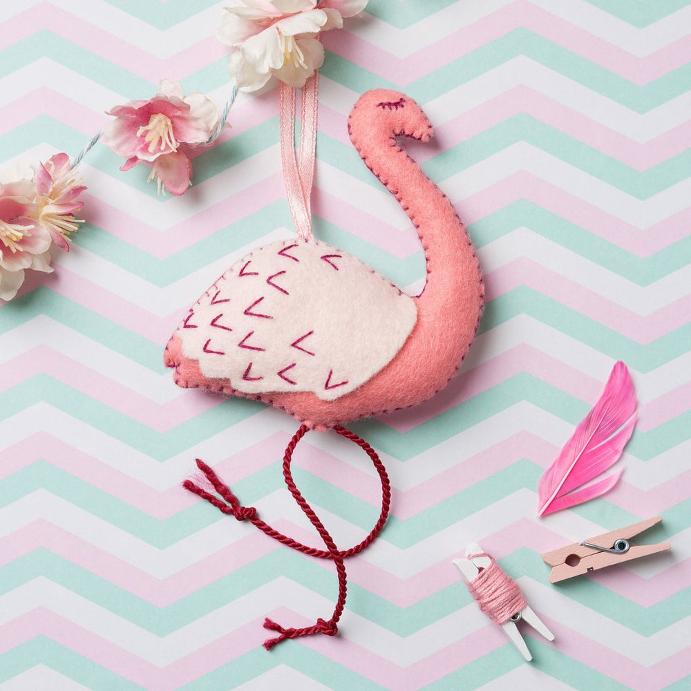 Felt Craft Mini Kit - Pink Flamingo