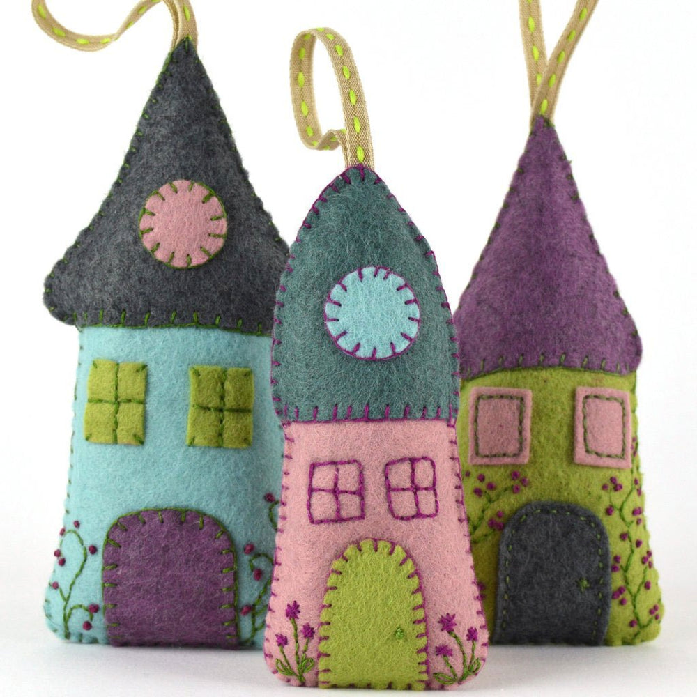Hand Stitched Felt Craft Kit - Lavender Houses