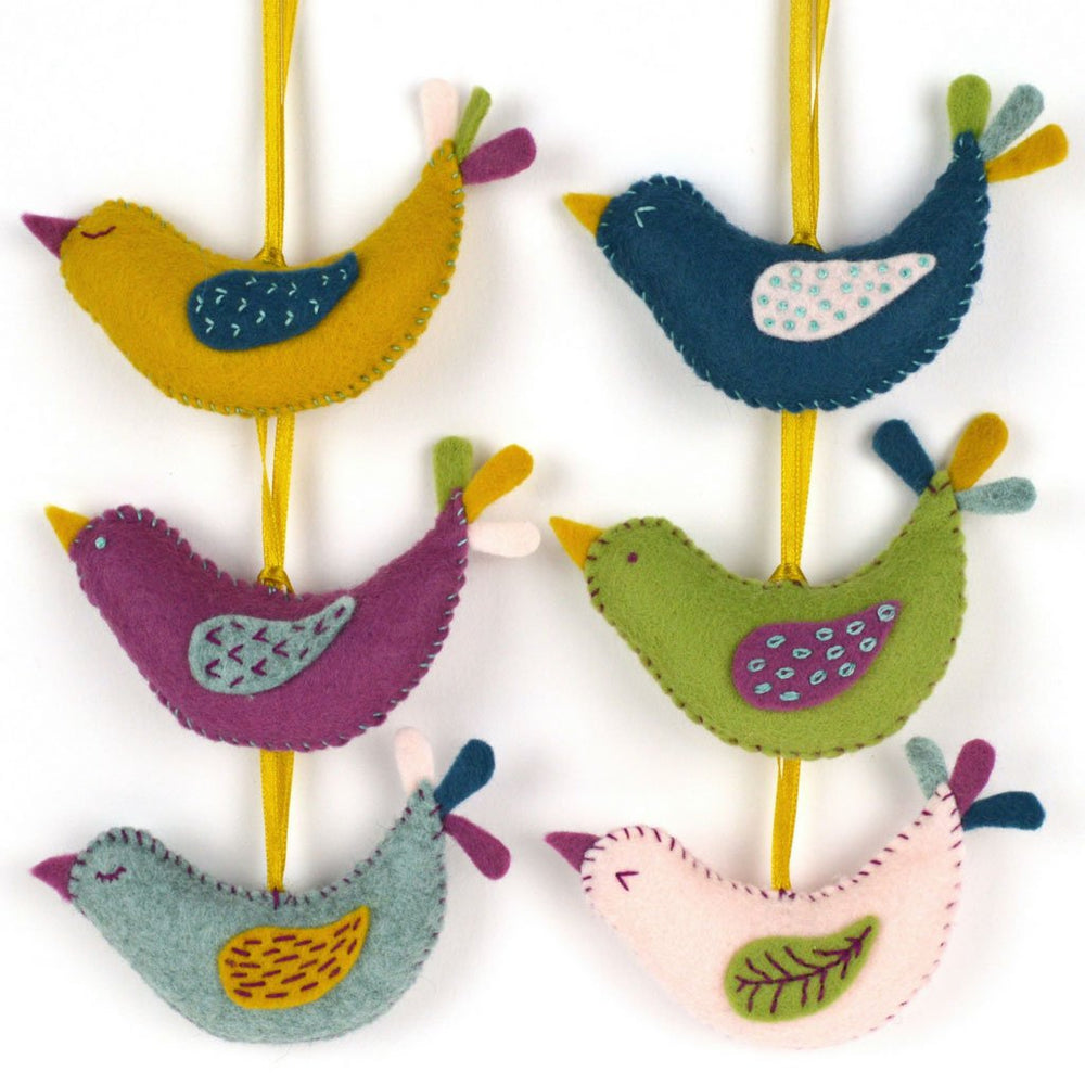 Hand Stitched Felt Craft Kit - Summer Bird Garland