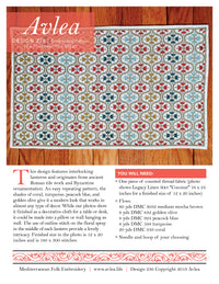 Mediterranean Folk Cross Stitch Pattern - Anatolian Odalesque